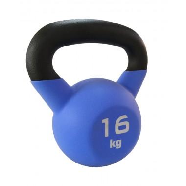 Гиря чугунная с виниловым покрытием SportElite 16 кг