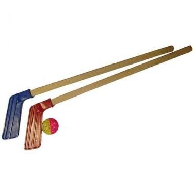 Хоккейный набор: 2 клюшки + мячик арт. 05-48