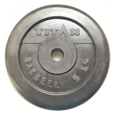 Диск обрезиненный черный Titan Barbell d-26 5 кг