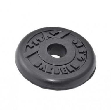 Диск обрезиненный черный Titan Barbell d-31 0,5 кг