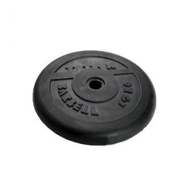 Диск обрезиненный черный Titan Barbell d-31 5 кг