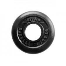 Диск обрезиненный черный Titan Barbell d-51 1,25 кг