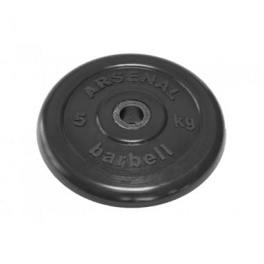 Диск обрезиненный черный Arsenal Barbell d-31 5 кг