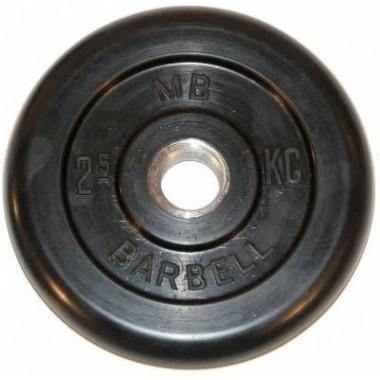 Диск обрезиненный черный MB Barbell d-31 2.5 кг