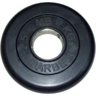 Диск обрезиненный черный MB Barbell d-51 2.5 кг
