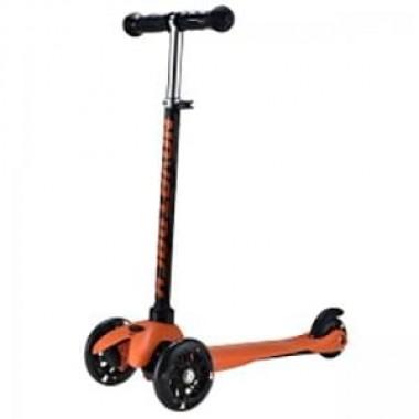 Самокат кикборд 3-х колесный Novatrack Disco-kids черно-оранжевый