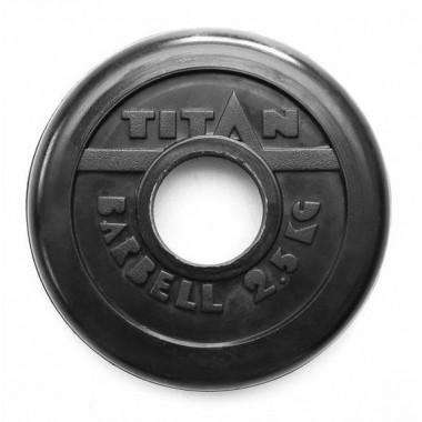 Диск обрезиненный черный Titan Profy d-51 2,5 кг