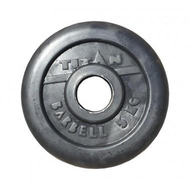 Диск обрезиненный черный Titan Profy d-51 5 кг