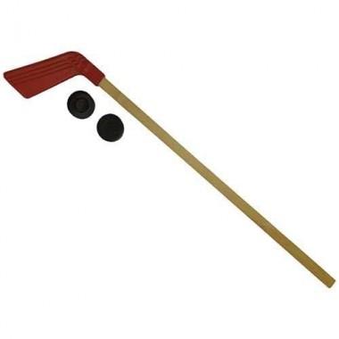Клюшка детская хоккейная 80 см +2 шайбы КХ-1-80