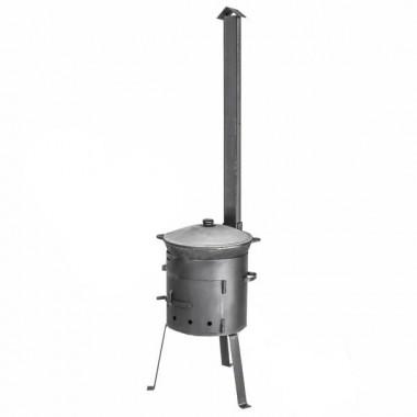 Печь для казана с дверцей и трубой (усиленная) на 12 литров