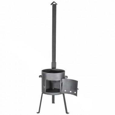 Печь для казана с дверцей и  трубой (усиленная) на 16 литров