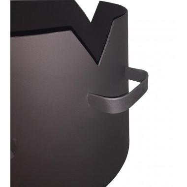 Печь для казана с дверцей усиленная на 8 литров