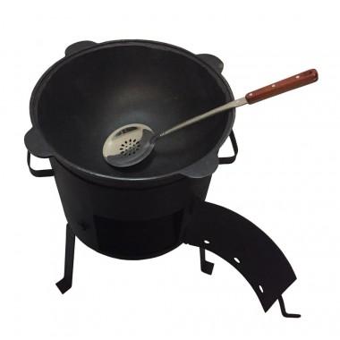 Комплект казан 6 л + ус. печь с дверцей + подарки