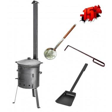 Комплект казан 6 л + ус. печь с трубой + подарки