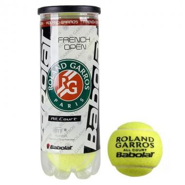 Мяч теннисный Babolat French Open All Court арт.501042 3 шт
