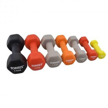 Гантель неопреновая Torres 2 кг арт.PL55012