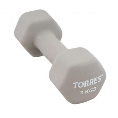 Гантель неопреновая Torres 3 кг арт.PL55013