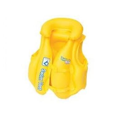 Жилет надувной Bestway 32034 с подголовником желтый