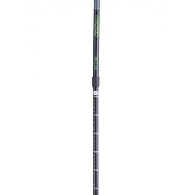 Палки для скандинавской ходьбы Berger Longway 77-135 см 2-секционные, чёрный/ярко-зелёный