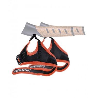 Комплект темляков Berger для скандинавских палок 2 шт., чёрный/оранжевый