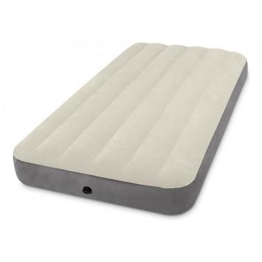Матрас надувной флокированный Intex 64101 Twin Deluxe Single-High Airbed (191х99х25 см)