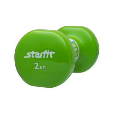 Гантель виниловая StarFit DB-101 2 кг зеленая