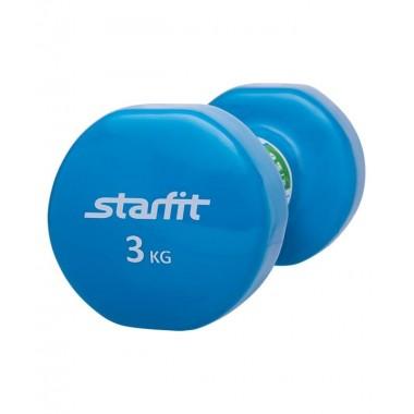 Гантель виниловая StarFit DB-101 3 кг синяя