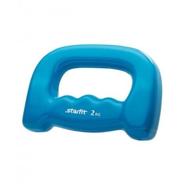 Гантель виниловая StarFit DB-103 2 кг синяя
