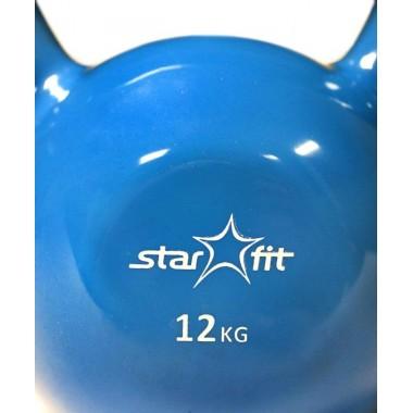 Гиря чугунная с виниловым покрытием StarFit DB-401 12 кг синяя