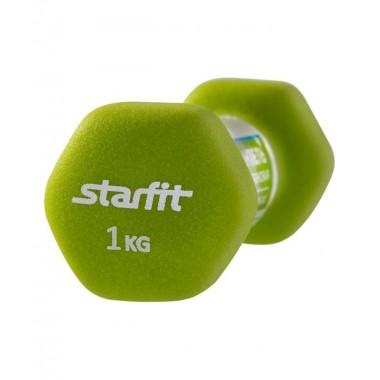 Гантель неопреновая StarFit DB-201 1 кг салатовая