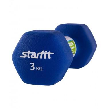Гантель неопреновая StarFit DB-201 3 кг синий