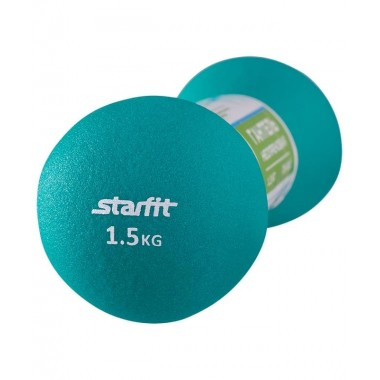 Гантель неопреновая StarFit DB-202 1,5 кг бирюзовая