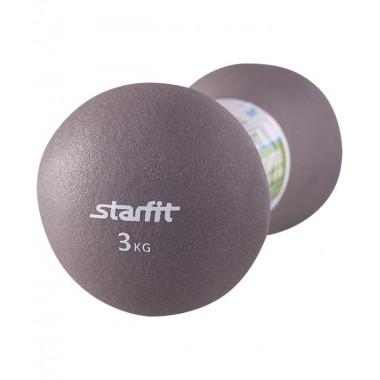 Гантель неопреновая StarFit DB-202 3 кг серая
