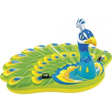 Надувной матрас-игрушка INTEX 57250 «Павлин» Peacock Island 193х163х94см