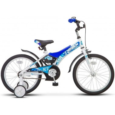 Велосипед детский STELS Jet 18 (2018) рама 10 белый/синий