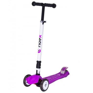 Самокат 3-колесный Ridex Smart 3D 120/80 мм фиолетовый