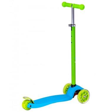 Самокат 3-колесный Ridex Snappy 3D 120/80 мм синий/зеленый