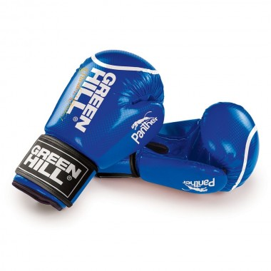 Перчатки боксерские Green Hill Panther BGP-2098 10 унций  синие