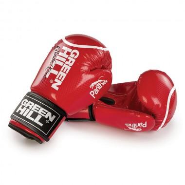 Перчатки боксерские Green Hill Panther BGP-2098 12 унций  красные
