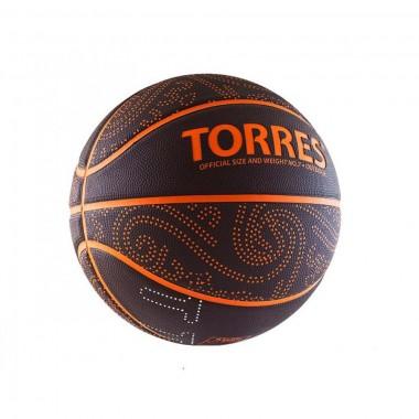 Мяч баскетбольный TORRES TT р.7, резина, бордово-оранжевый