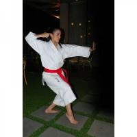 Кимоно для карате Kamikaze PREMIER-KATA WKF Approved (белый, р.4,5/175)