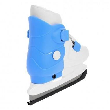 Коньки ледовые раздвижные Action (голубой/белый) PW-219-2 р.37-40