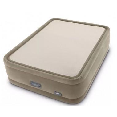 Двуспальная надувная кровать Intex 64936 ThermaLux + насос (152х203х51см)