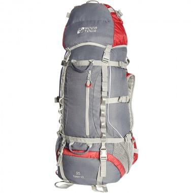 Рюкзак экспедиционный NOVA TOUR Юкон 95 V2 Серый/красный