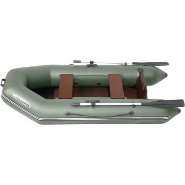 Лодка моторно-гребная ПВХ Лоцман М-260 ЖС Зеленый
