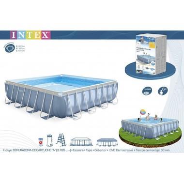 Квадратный каркасный бассейн Intex 28764 (427х427х107см)