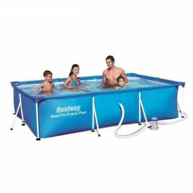 Каркасный прямоугольный бассейн Bestway 56411 (300х201х66см)