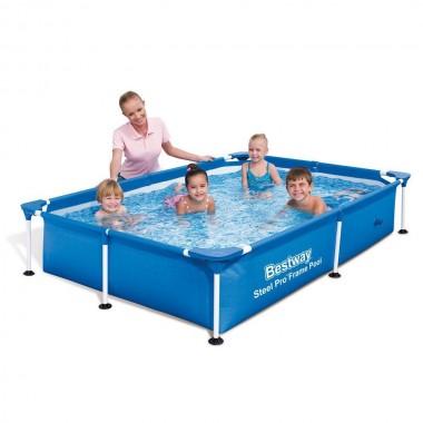 Каркасный прямоугольный бассейн Bestway 56401 (221х150х43см)
