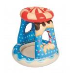 Детский надувной бассейн с навесом Bestway 52270 Конфетка (91х91х89см)
