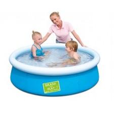 Детский бассейн с надувным верхом Bestway 57241 (152х38см)